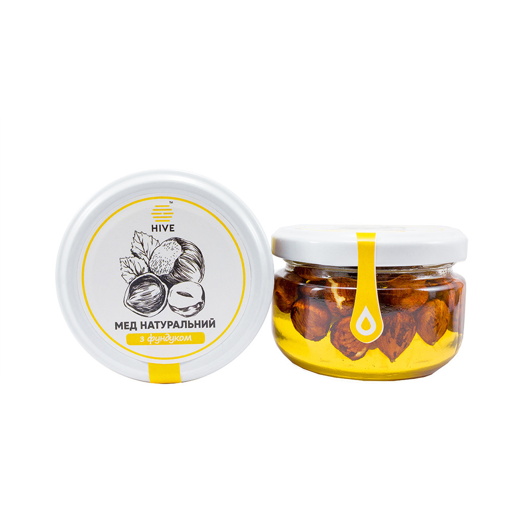 Мёд натуральный (акациевый) с фундуком 240г.