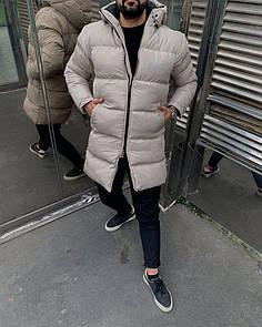 Чоловіча Куртка зимова (подовжена) Бежевий
