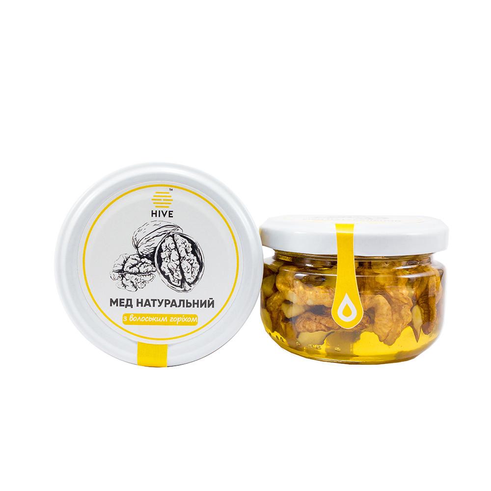 Мед натуральний (акацієвий) з волоським горіхом 240г.