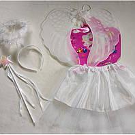 Карнавальный детский набор ангела (юбка,крылья, обруч нимб, палочка) 31855