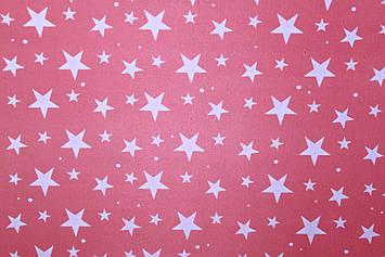 Подарочная бумага размер 1 метр на 70 см с  рисунком звезды красная 1 шт