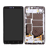 Дисплей Motorola XT1254 Droid Turbo with touchscreen and frame black orig
