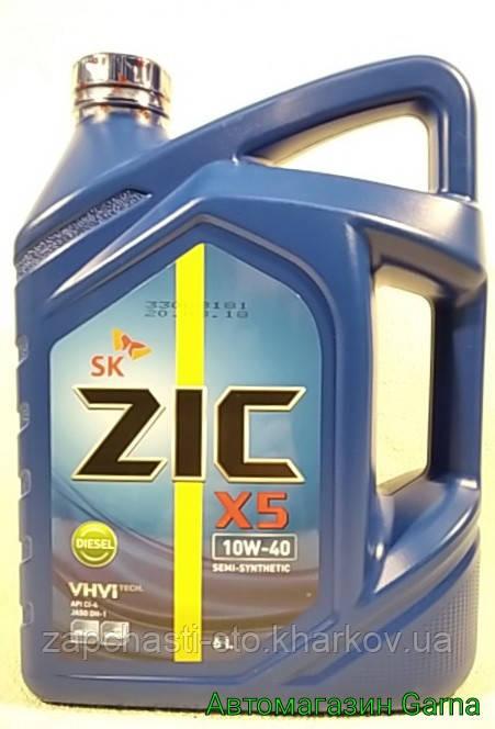 Масло дизельное полусинтетика 10W-40 ZIC 6л