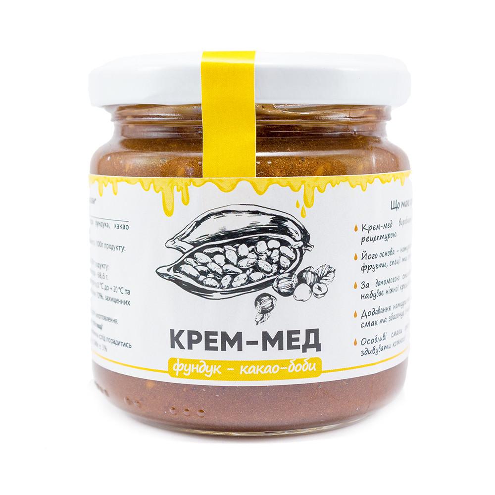 """Мед-крем """"Какао-бобы-фундук"""" 240 г"""