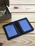 Шкіряна обкладинка права, id паспорт, водійське посвідчення Theo (Ручна робота), фото 3