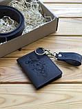 Шкіряна обкладинка права, id паспорт, водійське посвідчення Theo (Ручна робота), фото 4