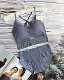 К3031 Жіночий комплект білизни Топ з трусиками різні кольори, фото 4