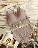 К3031 Жіночий комплект білизни Топ з трусиками різні кольори, фото 8