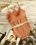 К3031 Жіночий комплект білизни Топ з трусиками різні кольори, фото 6