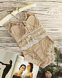 К3031 Жіночий комплект білизни Топ з трусиками різні кольори, фото 5