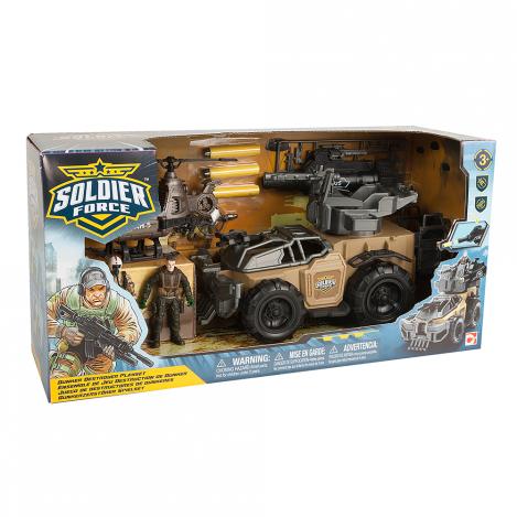 Игровой набор для мальчиков солдаты bunker destroyer с машиной и установкой для стрельбы chap mei (545015)