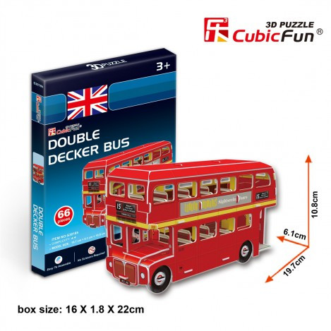 Тривимірна головоломка-конструктор автобус дабл Декер серія міні cubicfun (статуя свободи) (S3018h)