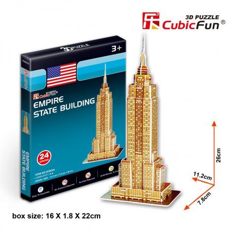 Тривимірна головоломка-конструктор Емпайр стейт білдінг серія міні cubicfun (Пізанська вежа) (S3003h)