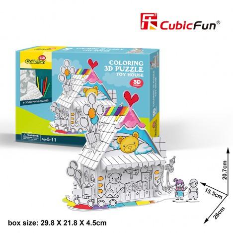 Трехмерная головоломка-конструктор игрушечный дом cubicfun (десертный дом) (P693h)