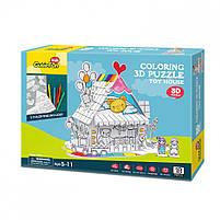 Трехмерная головоломка-конструктор игрушечный дом cubicfun (десертный дом) (P693h), фото 2