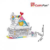 Трехмерная головоломка-конструктор игрушечный дом cubicfun (десертный дом) (P693h), фото 3