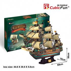 Тривимірна головоломка-конструктор іспанська армада сан фліпі cubicfun (T4017h)