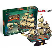 Трехмерная головоломка-конструктор испанская армада сан флипе cubicfun (T4017h), фото 5