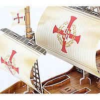 Тривимірна головоломка-конструктор корабель санта марія cubicfun (T4008h), фото 3