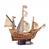 Тривимірна головоломка-конструктор корабель санта марія cubicfun (T4008h), фото 6