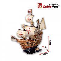 Тривимірна головоломка-конструктор корабель санта марія cubicfun (T4008h), фото 7
