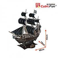 Тривимірна головоломка-конструктор корабель помста королеви Анни СubicFun (T4005h), фото 10