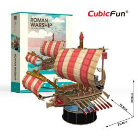 """Трехмерная головоломка-конструктор """"римский боевой корабль"""" cubicfun (месть королевы Анны, Санта Мария)"""