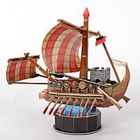 """Трехмерная головоломка-конструктор """"римский боевой корабль"""" cubicfun (месть королевы Анны, Санта Мария), фото 3"""