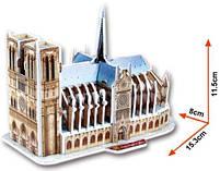 Тривимірна головоломка-конструктор 3d пазл Собор Паризької Богоматері міні (Тауерський міст), фото 2