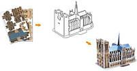 Тривимірна головоломка-конструктор 3d пазл Собор Паризької Богоматері міні (Тауерський міст), фото 3