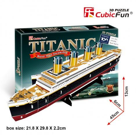 Тривимірна головоломка-конструктор Титанік CubicFun (T4012h)