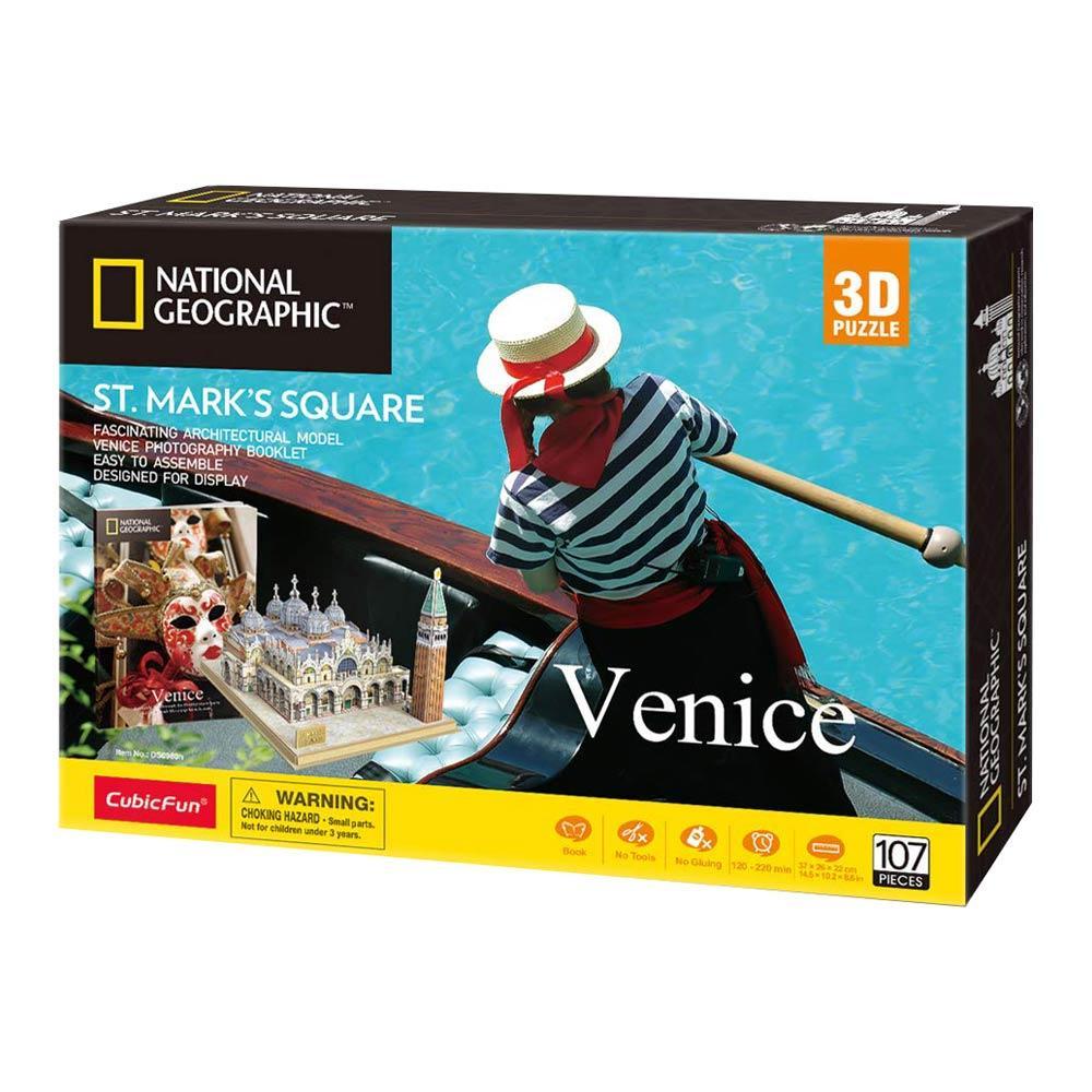 Тривимірна головоломка-конструктор National Geographic Площа Святого Марка CubicFun (DS0980h)