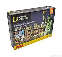 Тривимірна головоломка-конструктор National Geographic Емпайр Стейт Білдінг CubicFun (DS0977h), фото 3