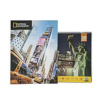 Тривимірна головоломка-конструктор National Geographic Емпайр Стейт Білдінг CubicFun (DS0977h), фото 7