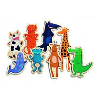Магнітна гра скажені тварини 24 деталі djeco (DJ03111), фото 4