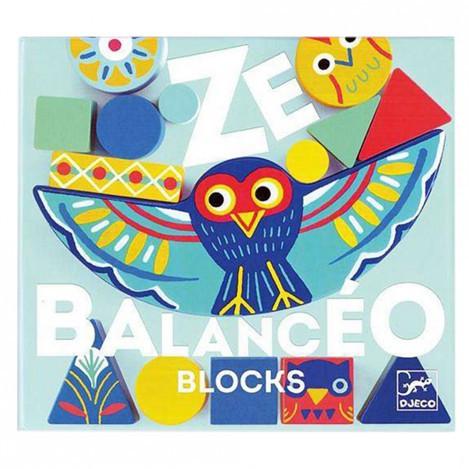 Набір дерев'яних геометричних фігур гра балансир ze balanceo djeco (DJ06433)