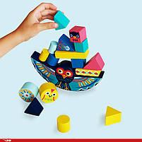 Набір дерев'яних геометричних фігур гра балансир ze balanceo djeco (DJ06433), фото 3