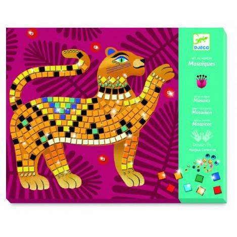 Набір для творчості - мозаїка глибоко в джунглях djeco (DJ09422)