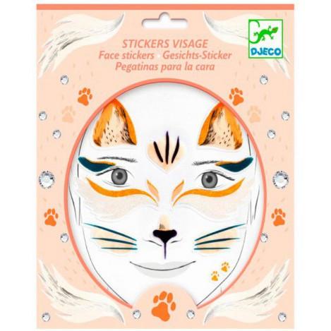 Набір наклейок для особи кішка djeco (весняна казка) (DJ09214)