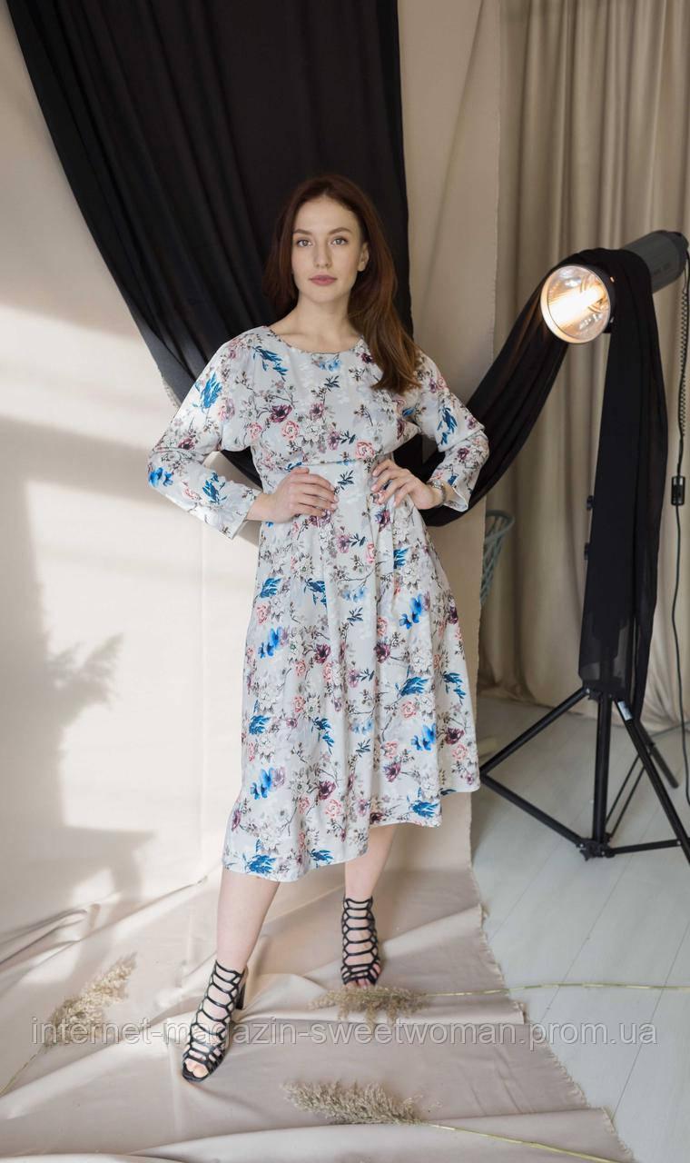 Сукня сіра з квітами Verezhik House