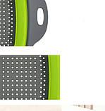 Силіконовий друшляк квадратний складаний малий 24,5 см, фото 7