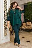 Нарядный брючный костюм женский  Тройка Размер 50 52 54 56 58 60 62 64 В наличии 4 цвета, фото 3