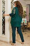 Нарядный брючный костюм женский  Тройка Размер 50 52 54 56 58 60 62 64 В наличии 4 цвета, фото 5