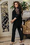 Нарядный брючный костюм женский  Тройка Размер 50 52 54 56 58 60 62 64 В наличии 4 цвета, фото 9