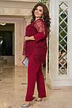 Нарядный брючный костюм женский  Тройка Размер 50 52 54 56 58 60 62 64 В наличии 4 цвета, фото 8