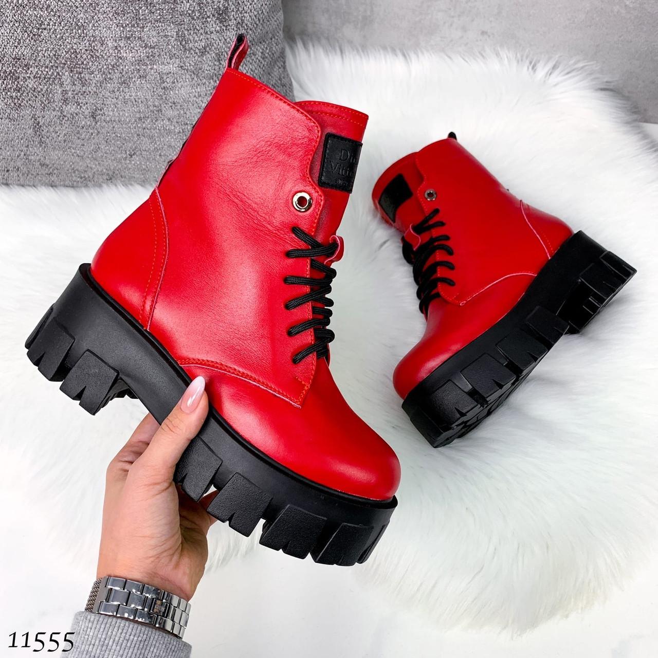 Красивые кожаные ботинки 11555 (ЯМ)