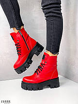 Красивые кожаные ботинки 11555 (ЯМ), фото 3
