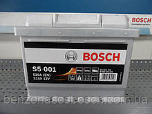 Автомобільний акумулятор BOSCH S50010 52Ah, 0092S50010,0 092 S50 010,АКБ.