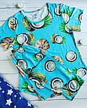 """П21029 Жіноча піжамка """"Кокоси"""" різні кольори, фото 3"""