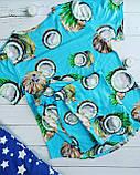 """П21029 Жіноча піжамка """"Кокоси"""" різні кольори, фото 4"""